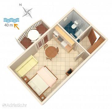 Studio flat AS-4202-c - Apartments Bilo (Primošten) - 4202