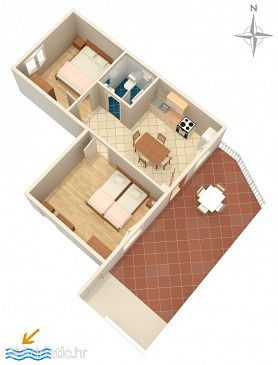 Apartment A-4207-b - Apartments Grebaštica (Šibenik) - 4207
