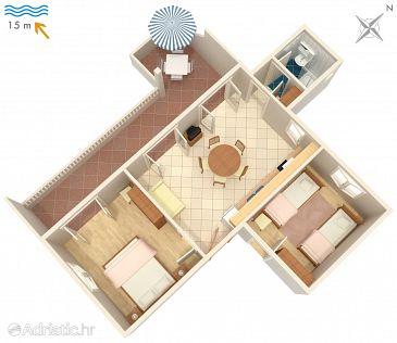 Ražanj, Plan kwatery u smještaju tipa apartment, WIFI.