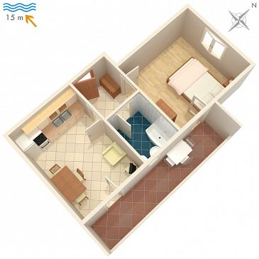 Apartament A-4253-b - Apartamenty Ražanj (Rogoznica) - 4253