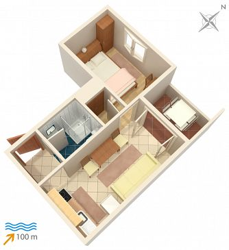 Apartament A-4263-a - Apartamenty Rogoznica (Rogoznica) - 4263