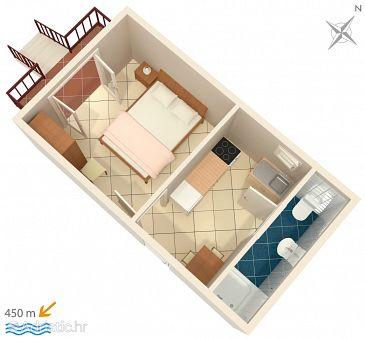 Studio flat AS-4303-a - Apartments Biograd na Moru (Biograd) - 4303