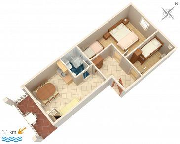 Apartament A-4305-a - Kwatery Biograd na Moru (Biograd) - 4305