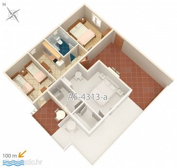 Apartment A-4313-b - Apartments Rogoznica (Rogoznica) - 4313