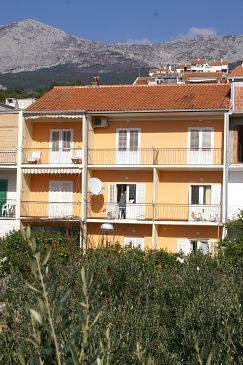 Podgora, Makarska, Obiekt 4332 - Apartamenty blizu mora ze żwirową plażą.