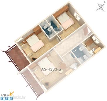 Apartment A-4333-a - Apartments Brna (Korčula) - 4333
