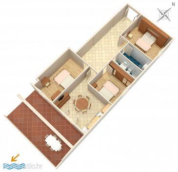 Zavalatica, Plan kwatery w zakwaterowaniu typu apartment, WIFI.