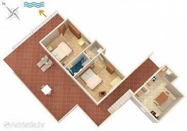 Apartment A-4437-b - Apartments Lumbarda (Korčula) - 4437