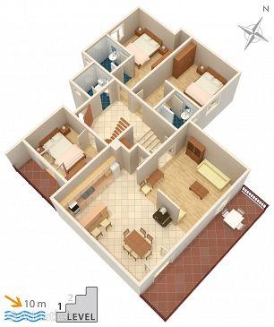 Korčula, Plan u smještaju tipa apartment, WIFI.