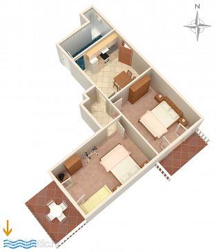 Apartment A-4453-a - Apartments Zavalatica (Korčula) - 4453