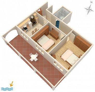 Apartament A-4453-c - Apartamenty Zavalatica (Korčula) - 4453