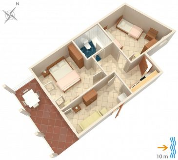 Apartament A-4461-a - Apartamenty Zavalatica (Korčula) - 4461