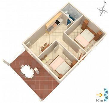 Apartament A-4461-b - Apartamenty Zavalatica (Korčula) - 4461