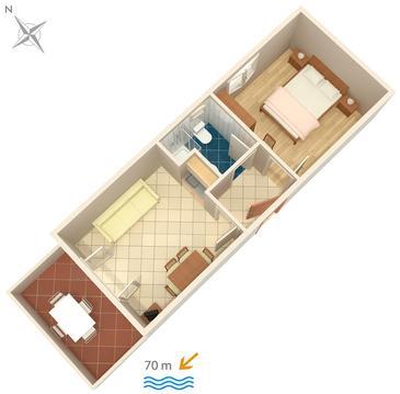 Apartment A-448-a - Apartments and Rooms Uvala Soline (Dugi otok) - 448