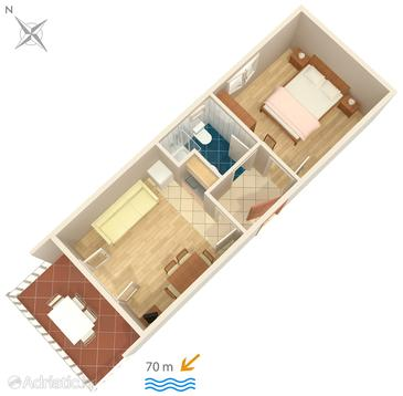 Apartment A-448-d - Apartments and Rooms Uvala Soline (Dugi otok) - 448