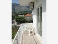 Orebić, Balcony u smještaju tipa apartment, s pogledom na more i WIFI.