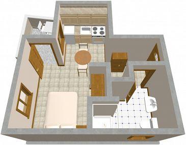 Studio flat AS-456-a - Apartments Žman (Dugi otok) - 456