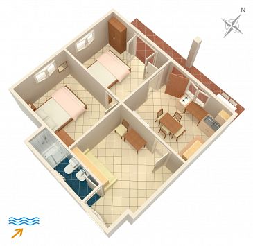 Apartament A-4561-b - Apartamenty Drače (Pelješac) - 4561