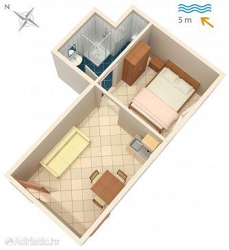 Studio flat AS-4568-a - Apartments Luka Dubrava (Pelješac) - 4568