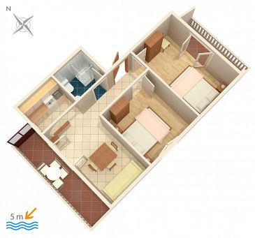 Apartment A-458-b - Apartments Okrug Gornji (Čiovo) - 458