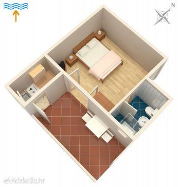 Jelsa, Plan u smještaju tipa apartment, WIFI.