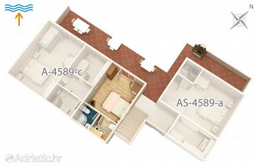 Studio flat AS-4589-b - Apartments Jelsa (Hvar) - 4589