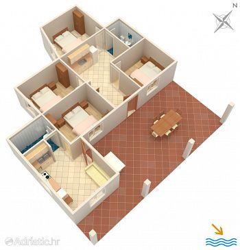 House K-4592 - Vacation Rentals Uvala Girna Luka (Hvar) - 4592