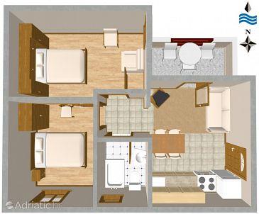 Apartment A-460-c - Apartments Slatine (Čiovo) - 460