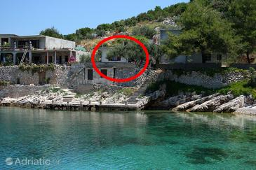 Uvala Zaraće, Hvar, Property 4603 - Vacation Rentals blizu mora with pebble beach.