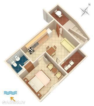 Apartment A-4604-e - Apartments Uvala Pokrivenik (Hvar) - 4604