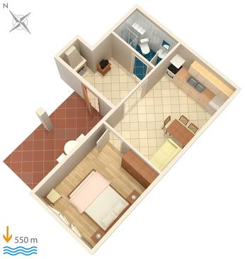 Apartment A-4611-c - Apartments Hvar (Hvar) - 4611