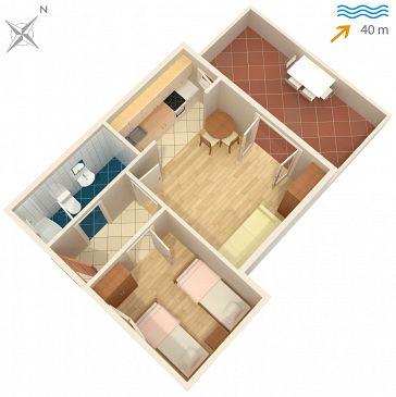 Apartament A-4621-b - Apartamenty Jelsa (Hvar) - 4621