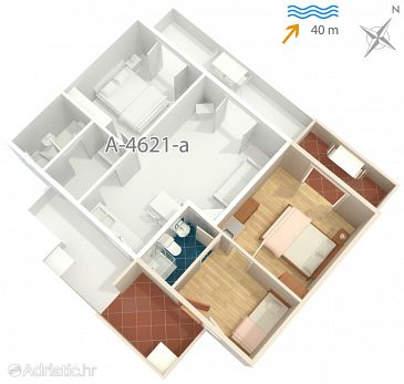 Studio flat AS-4621-a - Apartments Jelsa (Hvar) - 4621