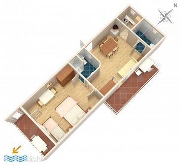 Apartament A-4632-a - Apartamente și camere Duće (Omiš) - 4632