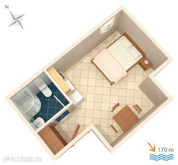 Studio flat AS-4664-b - Apartments Duće (Omiš) - 4664