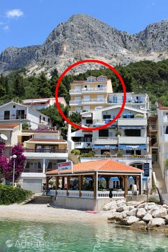 Property Podgora (Makarska) - Accommodation 4670 - Apartments and Rooms near sea with pebble beach.