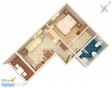 Apartment A-4671-c - Apartments Promajna (Makarska) - 4671