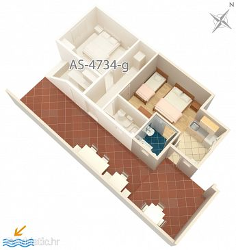Studio flat AS-4734-h - Apartments Podaca (Makarska) - 4734