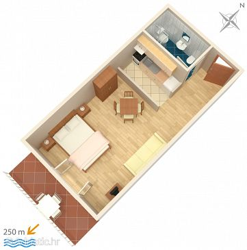 Studio flat AS-4767-a - Apartments and Rooms Soline (Dubrovnik) - 4767
