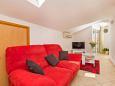 Mlini, Living room u smještaju tipa apartment, dostupna klima i WIFI.
