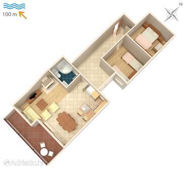 Apartment A-4810-a - Apartments Drašnice (Makarska) - 4810