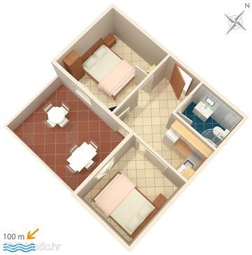 Apartment A-4815-d - Apartments Pisak (Omiš) - 4815