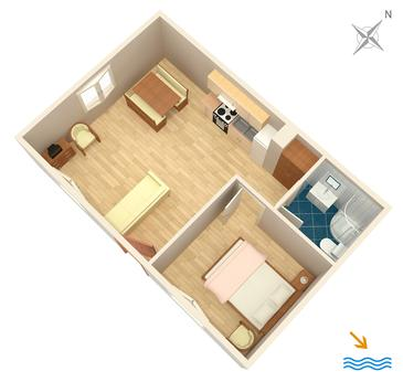 Apartament A-4824-a - Apartamenty Primošten (Primošten) - 4824