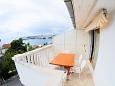 Podstrana, Terrace u smještaju tipa apartment, s pogledom na more, dopusteni kucni ljubimci i WIFI.