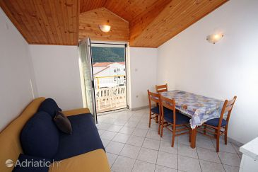 Grebaštica, Dining room u smještaju tipa apartment, dostupna klima i dopusteni kucni ljubimci.