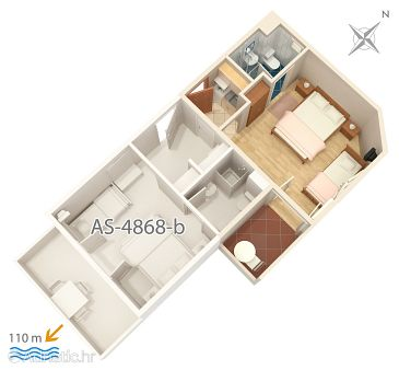 Studio flat AS-4868-a - Apartments Balića Rat (Omiš) - 4868
