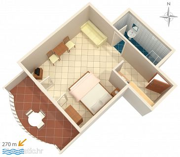 Studio flat AS-487-b - Apartments Srima - Vodice (Vodice) - 487