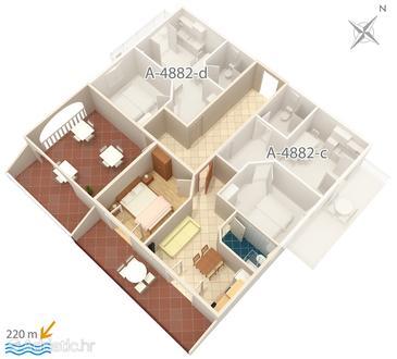 Apartment A-4882-e - Apartments Grebaštica (Šibenik) - 4882