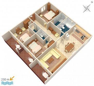 Apartament A-4890-a - Apartamenty Drvenik Gornja vala (Makarska) - 4890