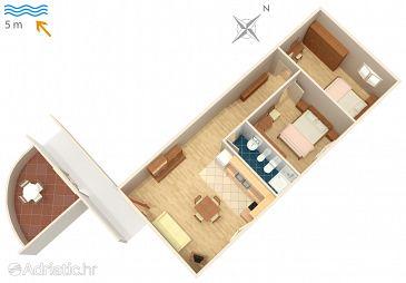 Apartment A-4960-b - Apartments and Rooms Supetarska Draga - Gornja (Rab) - 4960